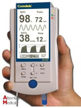 Oxymètre capnographe portable
