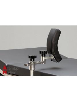Support latéral courbé pour table d'opération