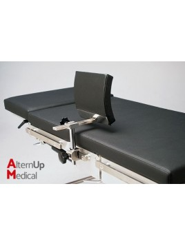 Lateral support curved cushion