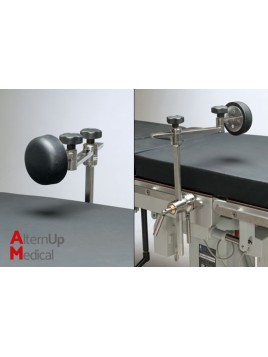 Pubis support for operating table