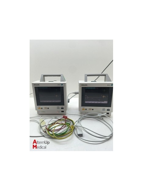 Lot of 2 Philips M3046A M2 Vital Signs Monitor