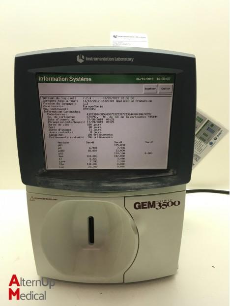 Gaz du Sang Instrumentation Laboratory GEM Premier 3500