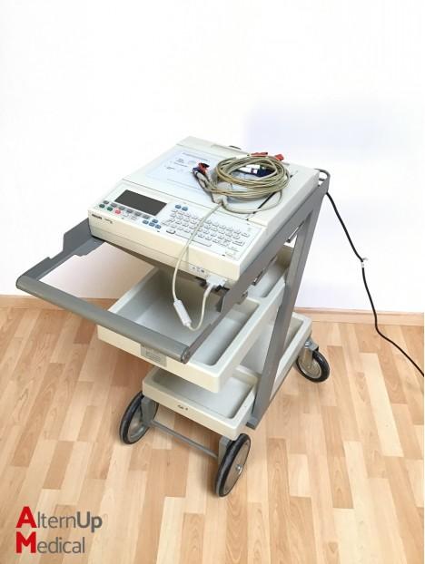 Philips M1771A ECG on trolley