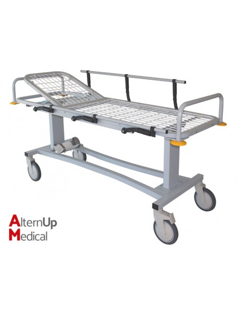Professional Patient Trolley - Adjustable Head Section